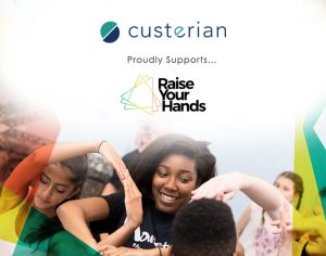 Custerian supports raise your hands